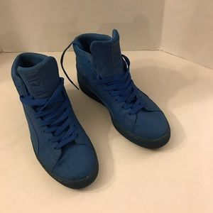 Puma high tops men sneakers suede blue fashion